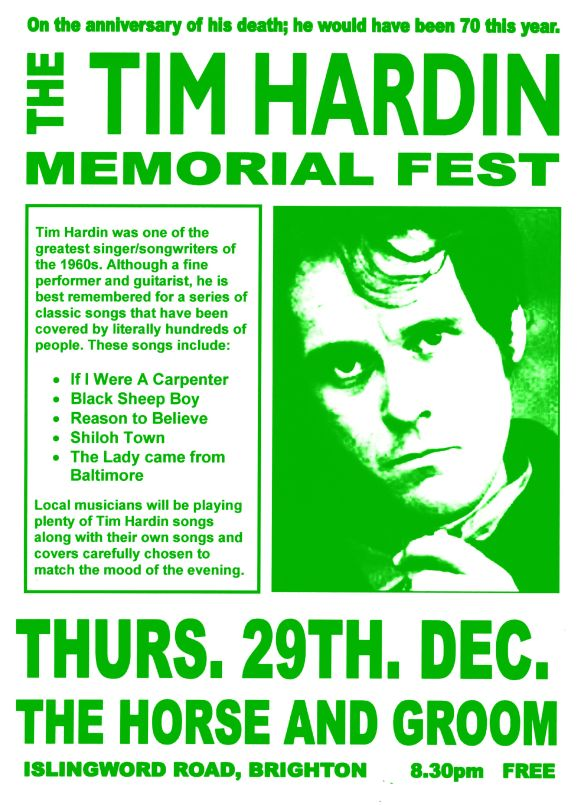 Tim Hardin memorial night in Brighton